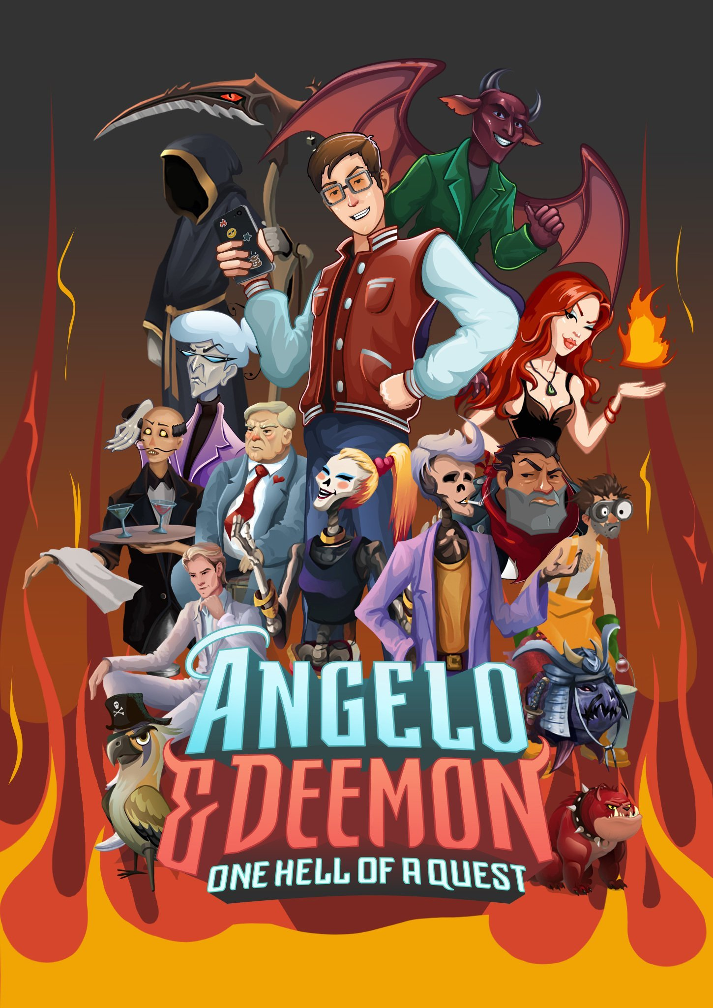 Poster Angelo and Deemon: One Hell of a Quest (Build 4260198) [Portable] (2019) скачать торрент Лицензия